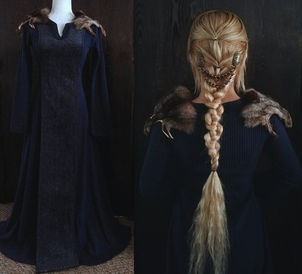 Royal Blue - Viking Gown (With Images)