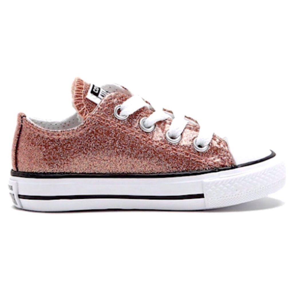 Girls Sparkly Glitter Converse