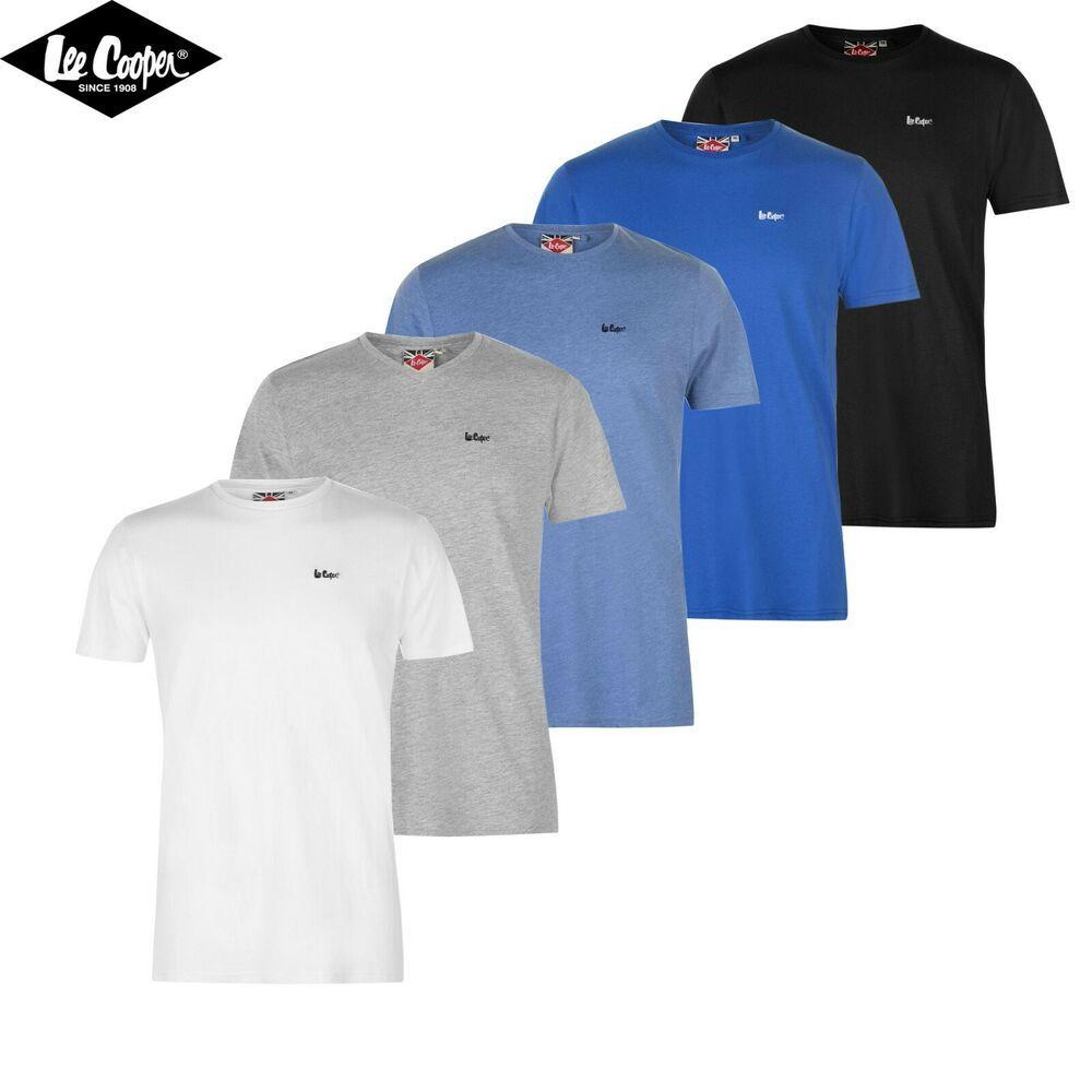 45dd9d795 Lee Cooper Men T-Shirt Short Sleeve 100% Cotton T shirt Man Genuine Tee