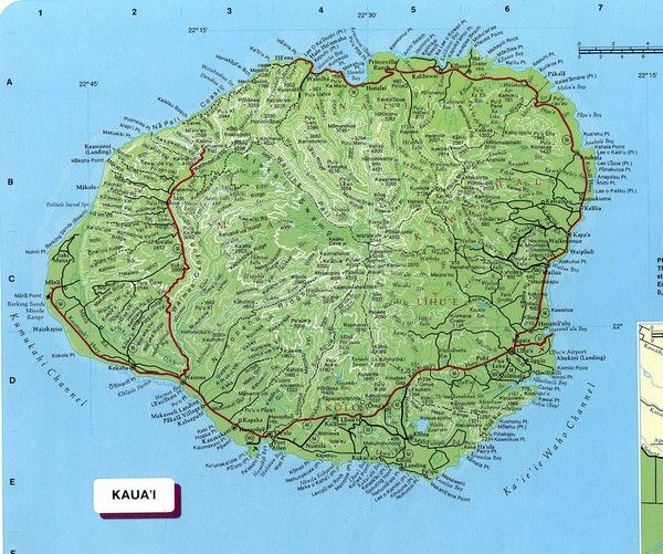 MAP OF KAUAI Free World Maps Atlas of the World Hawaii Kauai