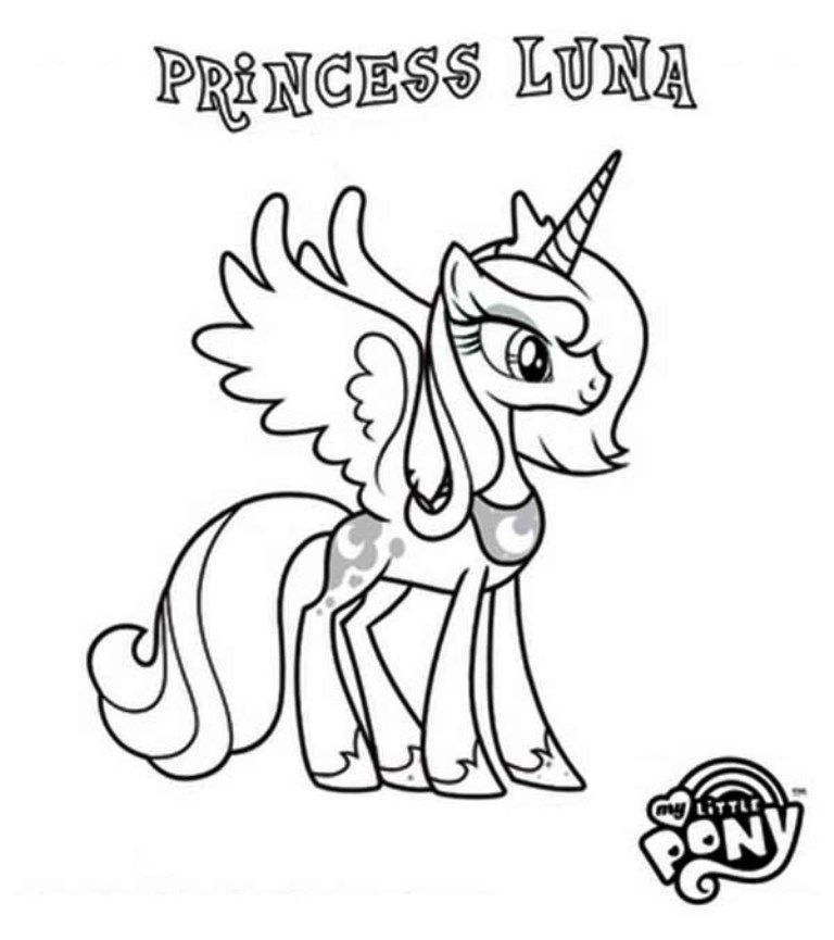 My Little Pony Coloring Pages Luna My Little Pony Coloring