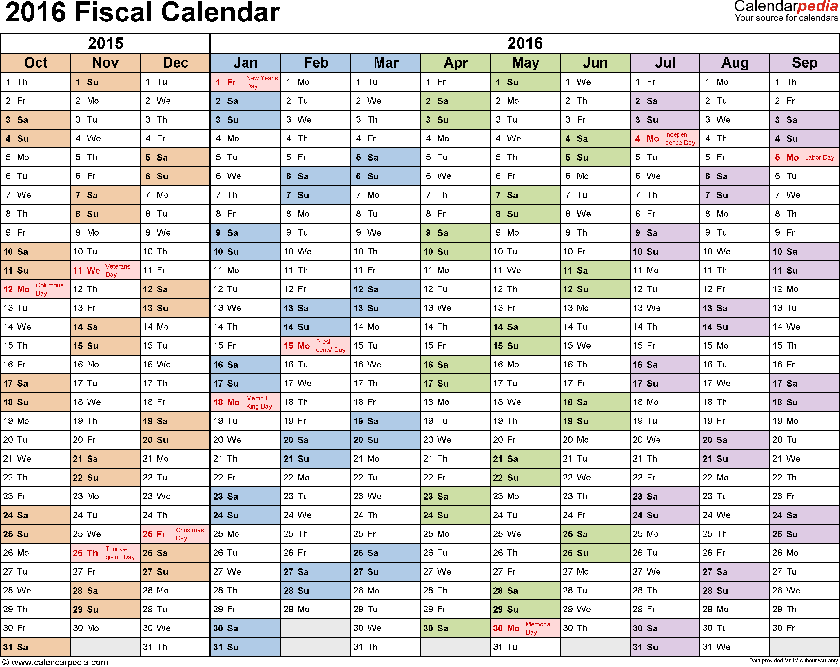 Fiscal Year Calendar Template from i.pinimg.com