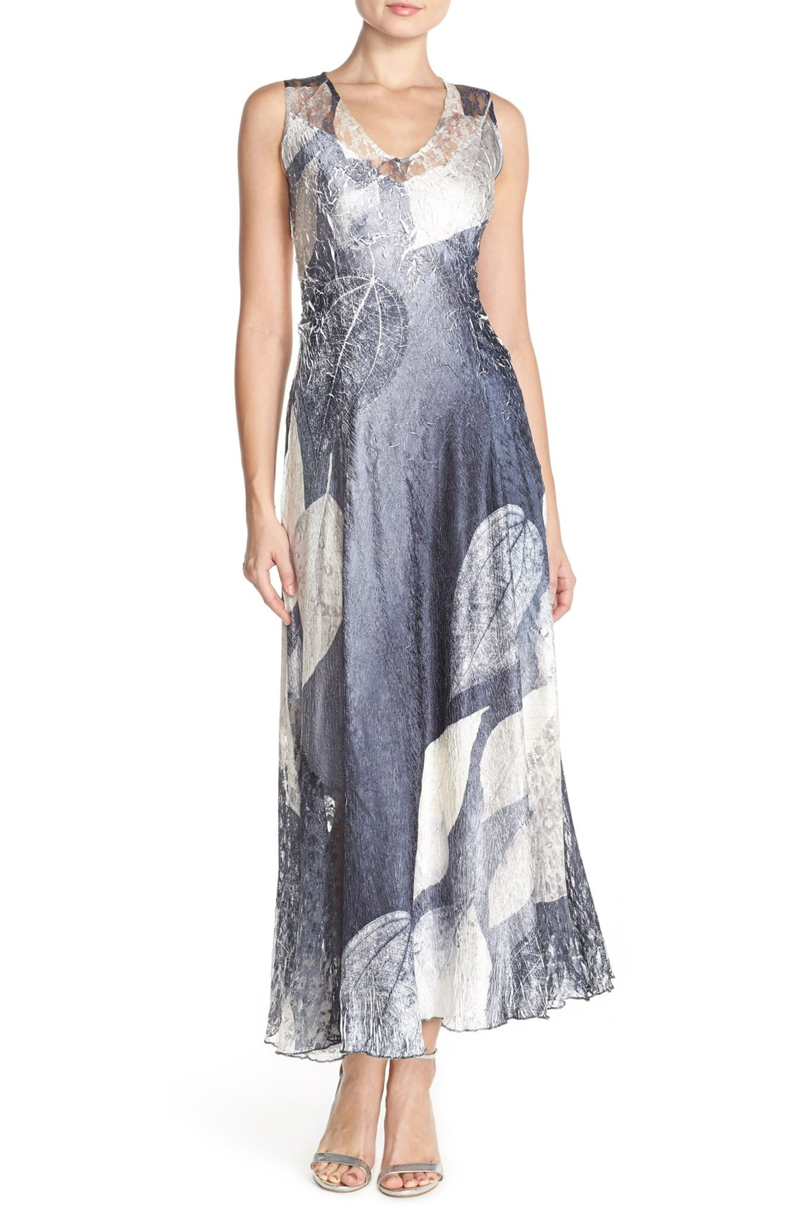 9a9497b42c3 Komarov Lace   Charmeuse A-Line Maxi Dress