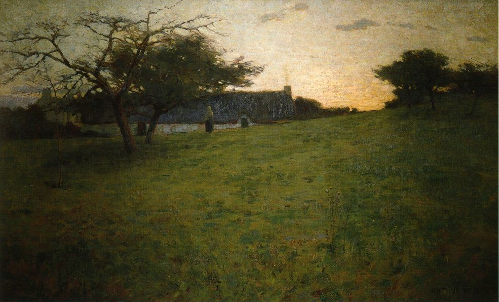 At Evening 1888 Painting by Arthur Wesley Dow | Oil Painting