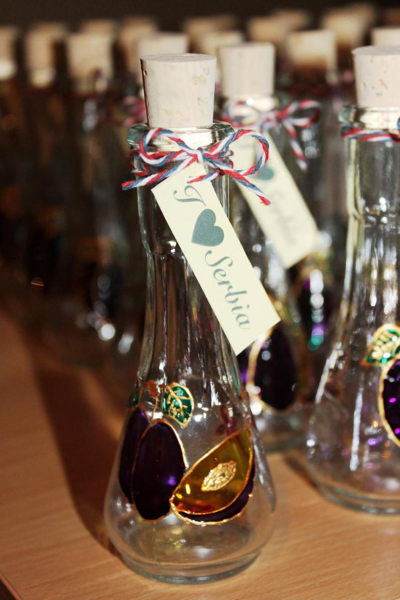 Wedding Favors, Plum Shot Glasses for rakija, liquors