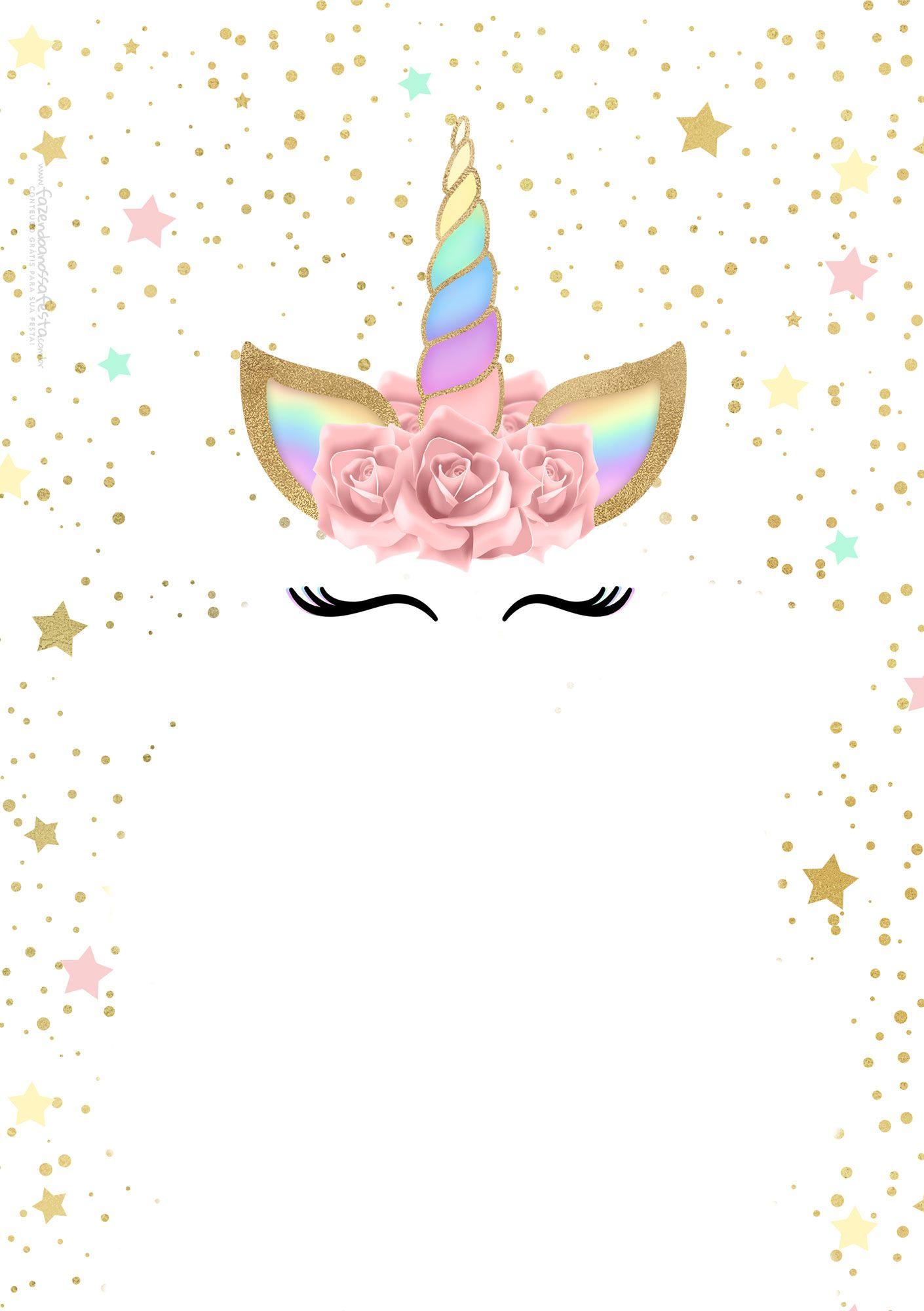 Convite-Unicornio-Gratis.jpg 1,410×2,000 pixeles | Unicorns ...