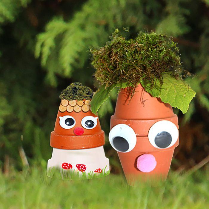 nains de jardin à fabriquer | Bonhomme En Terre Cuite Nain De Jardin ...