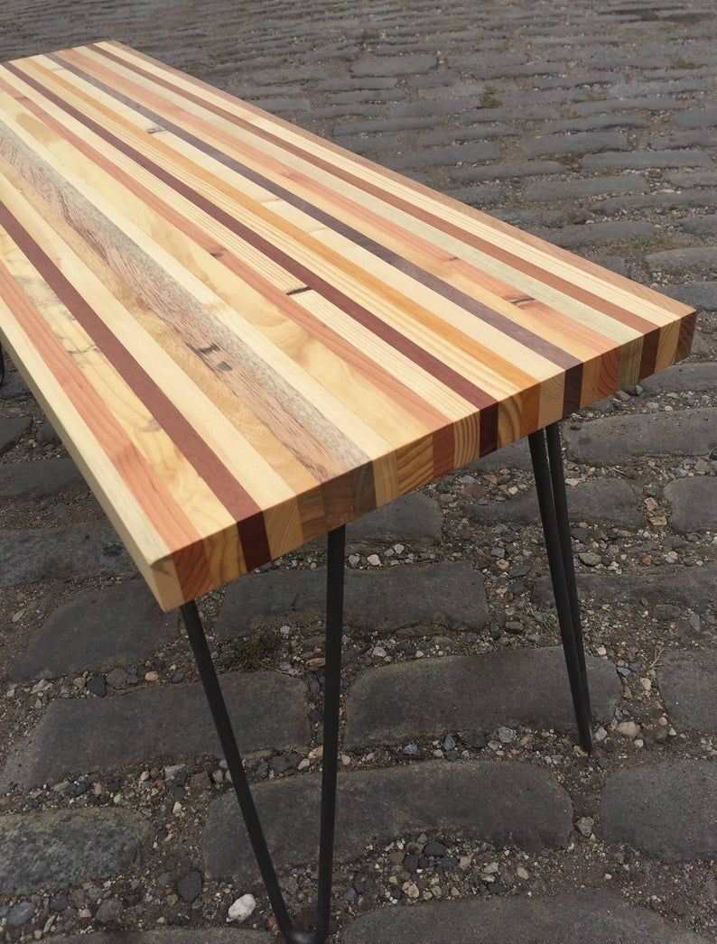 Reclaimed Pallet Wood Bench Coffee Table Reclaimed Pallet Wood Wood Pallets Wood Bench