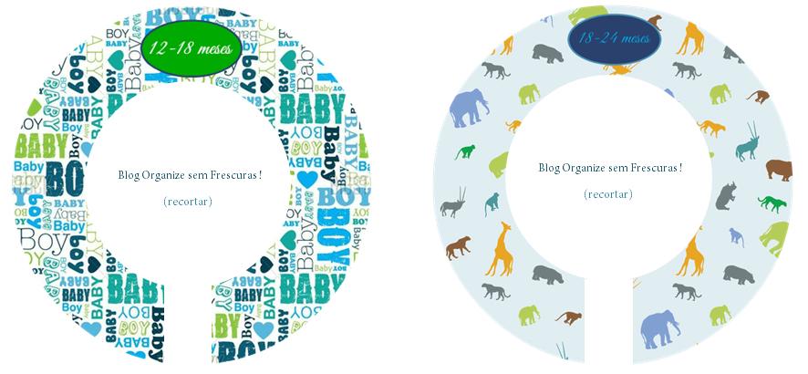 Organize sem Frescuras | Rafaela Oliveira » Arquivos » Vídeo: Separadores de roupas para organizar o armário do bebê (para imprimir)
