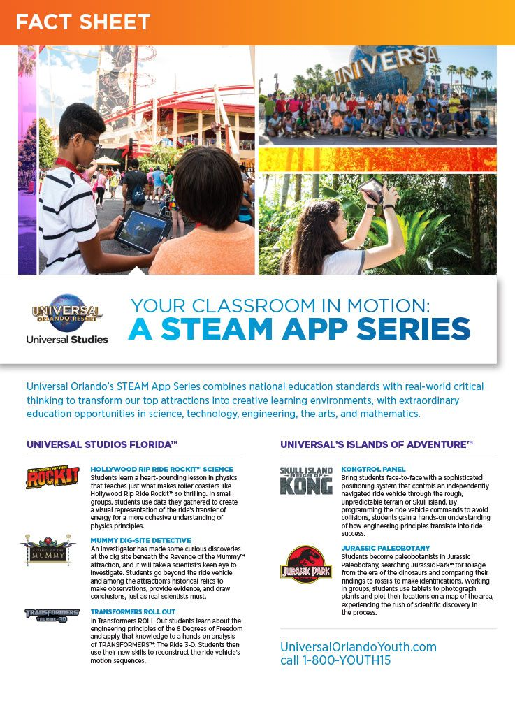 Your Classroom in Motion A Steam App Series Fact Sheet