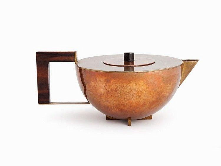 Bauhaus Dessau Metallwerkstatt, 4Piece Tea Set, Marianne