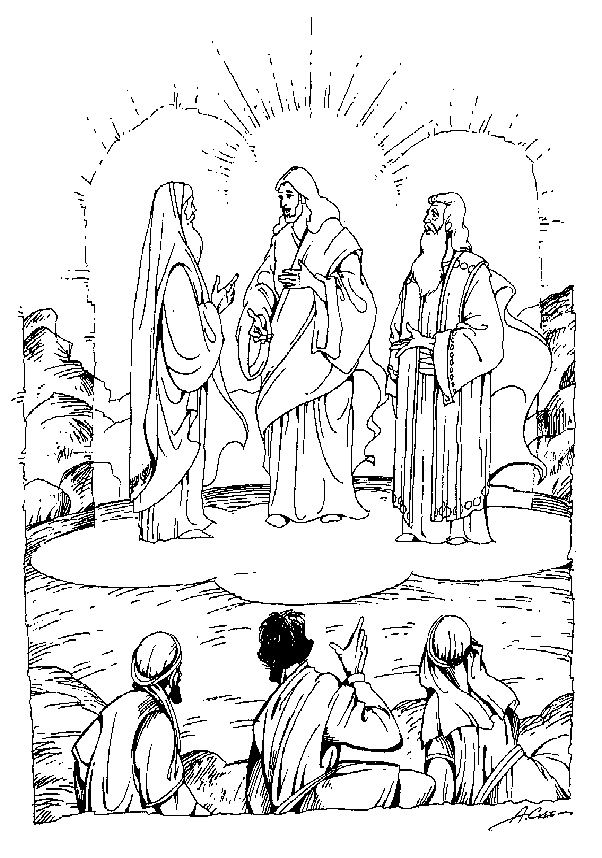 The Transfiguration Coloring Page Junior Church Bible Crafts