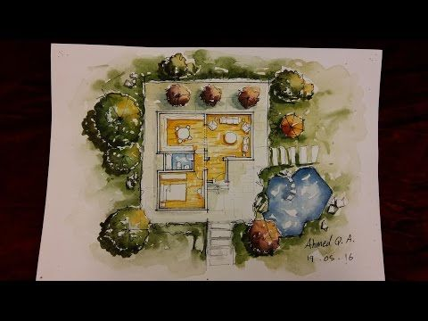 Ground Floor Plan Rendering By Watercolour Youtube Rendered
