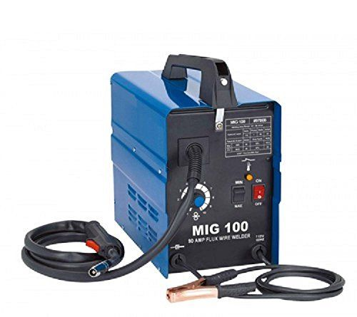 GASLESS MIG 100A WELDER PORTABLE WELDING MACHINE NO GAS FLUX CORE WIRE 230V