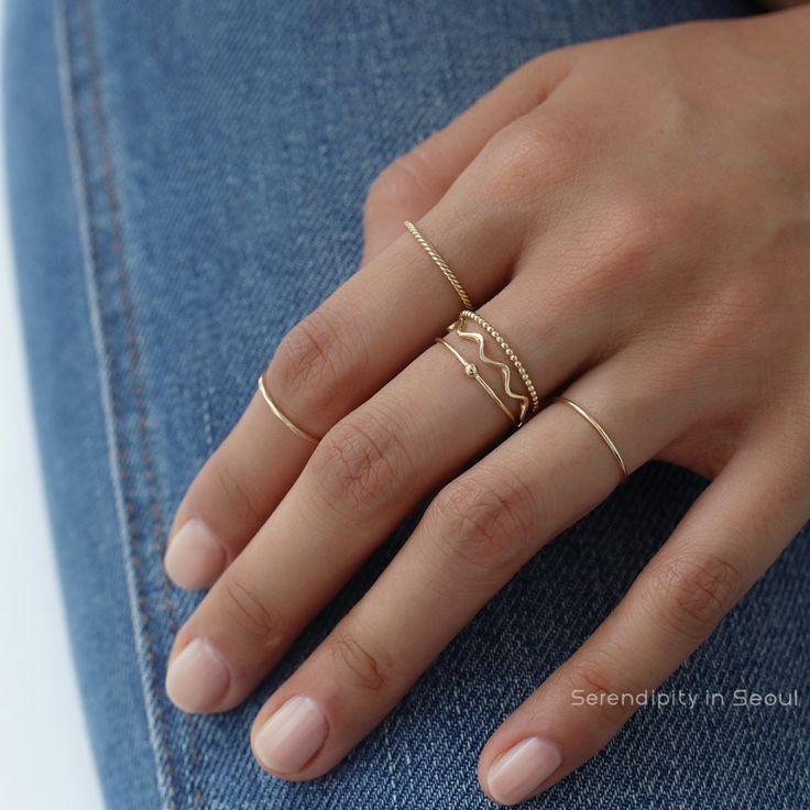Photo of Twist Stacker Ring- 14K Gold