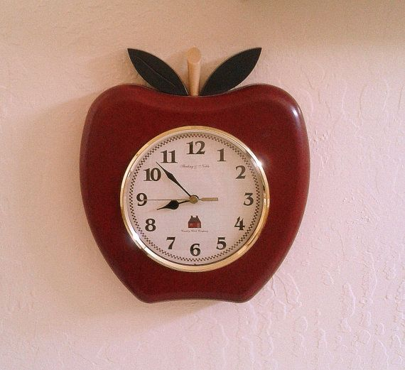 Retro Kitchen Apple Clock Sterling Amp Noble Country Clock