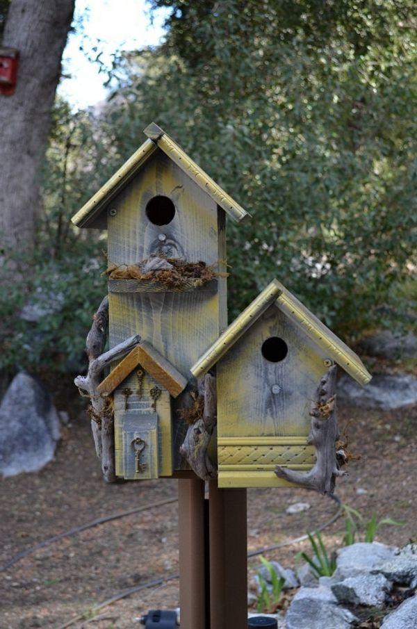 vogelhaus holz umweltfreundlich diy selber bauen | vogelhaus, Moderne