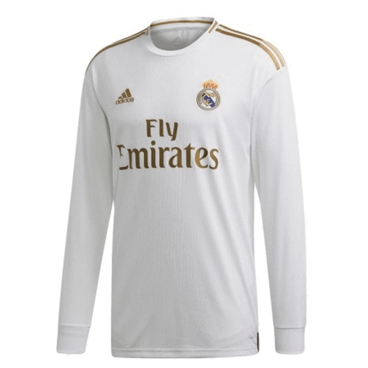 Real Madrid C F Football Club Home Long Sleeve Los Vikingos 2019 20 Replica Futbol Soccer Kit Calcio Shirt Jersey Fussball Camisa Futebol Camiseta Trikot Maill En 2020 Maillot De Foot Maillot De Football Maillot