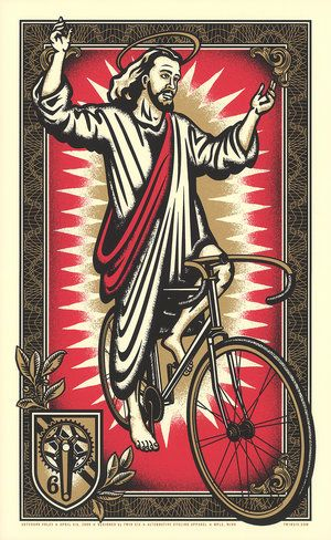 On The Third Day He Rode Cycling Posters Bike Poster