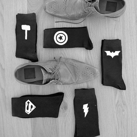 Best Man Superhero Wedding SocksGroom Personalised Groomsman