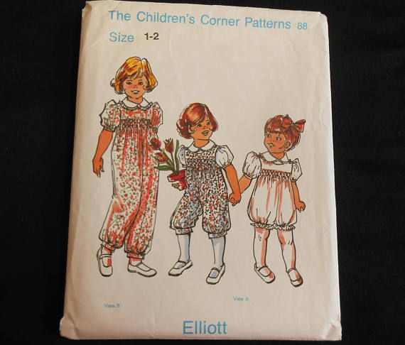 Children's Corner Pattern Elliott Size 4040 Sewing Pattern Girl Custom Childrens Corner Patterns