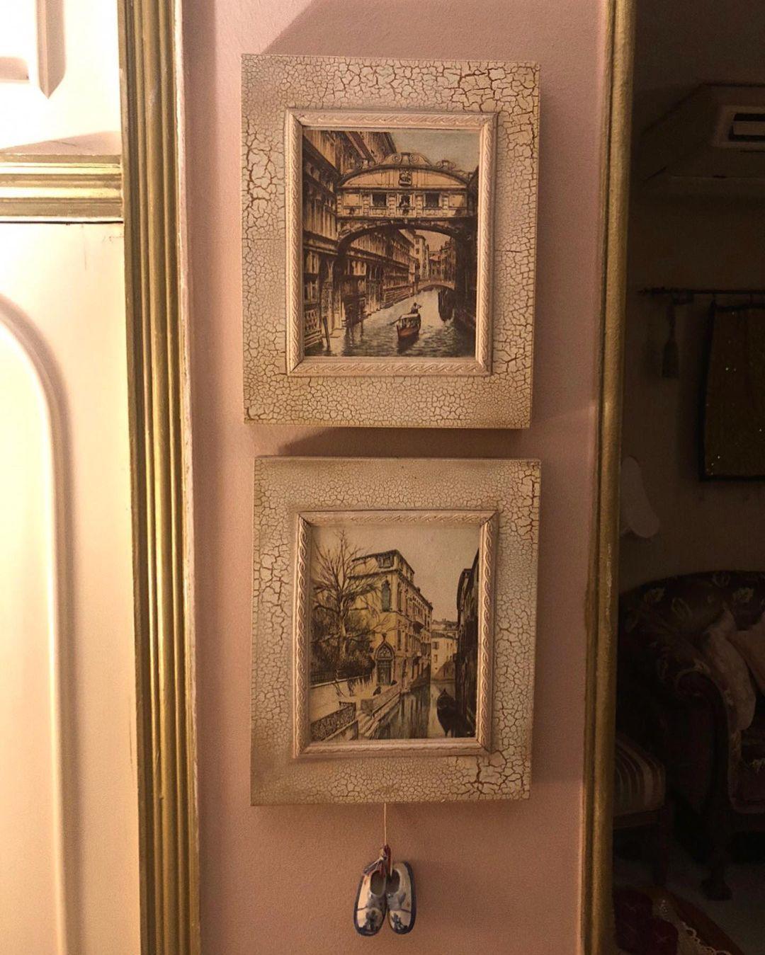 Tahani Ghanem On Instagram تابلوهات لاكيه معتق فيها رسومات للبندقية في ايطاليا بس جبتهم من جدة Jeddah Egypt Italy Venice Homedec Home Decor Decor Frame