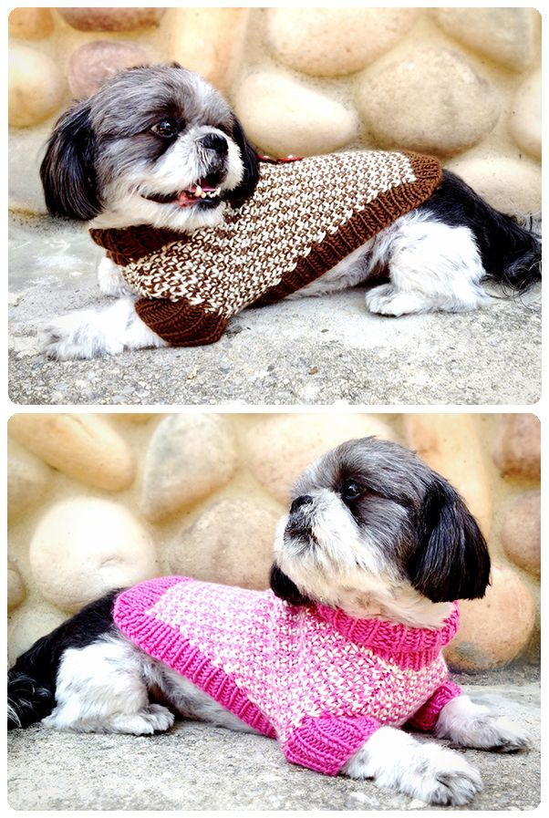 My Twin Tweeds Dog Sweater pattern is available for download! http ...