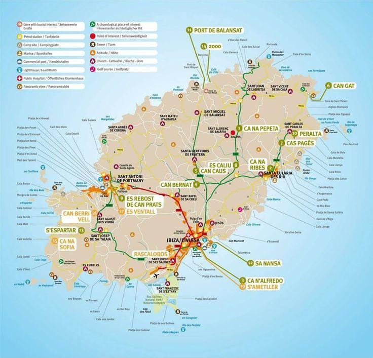 Ibiza Map In 2019 Ibiza Map Ibiza Island Ibiza