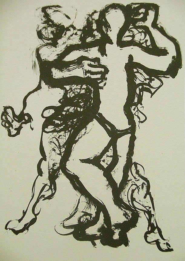 La Edad de la Muerte (IX). Litografía, 23 x 15,5 cm. mancha, 31,5 x 23 cm. soporte. 60 €.