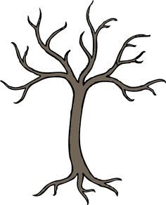 Coloring Book Tree Without Leaves Google Search Family Tree Drawing Family Tree Clipart Family Tree Template