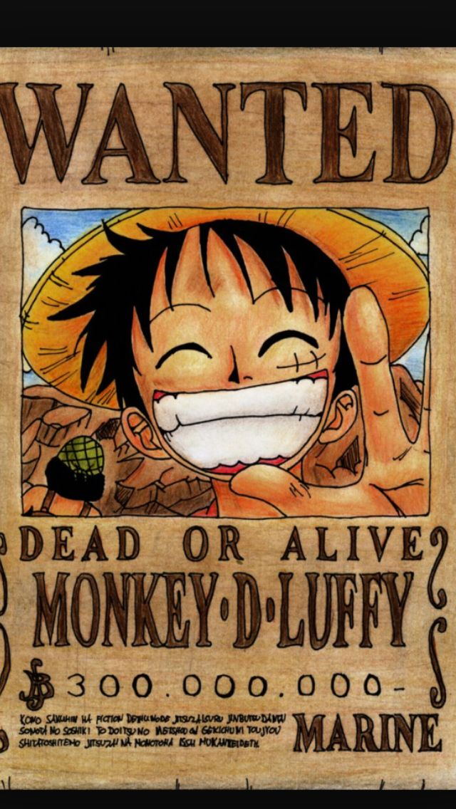 Luffy Wanted Poster Luffy Wallpaper Anime Seni Anime wallpaper one piece wanted