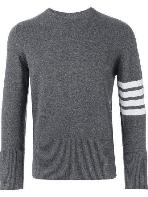 843b221f6557 THOM BROWNE Striped Sleeve Sweater.  thombrowne  cloth  sweater ...