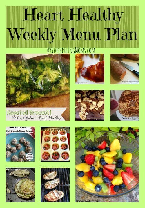 menus for heart healthy diet