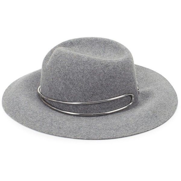 911c0999284 Rag   Bone Zoe Wool Fedora (£220) ❤ liked on Polyvore featuring accessories