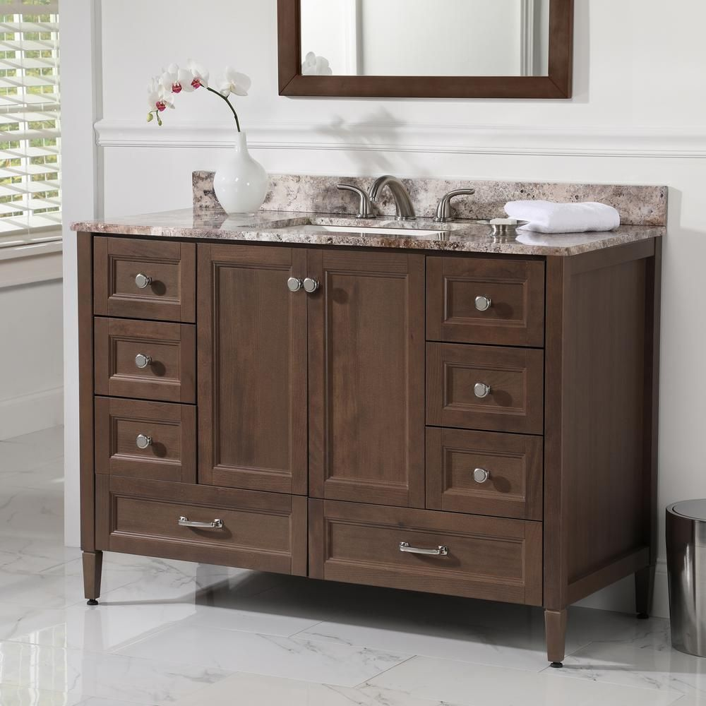 Home Decorators Collection Claxby 48 in. W Bath Vanity Cabinet Only ...