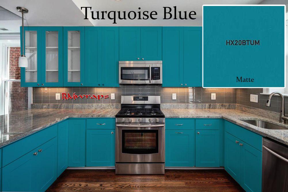 Kitchen-Cabinets-wrap-colors-Turquoise-blue.jpg | Kitchen ...