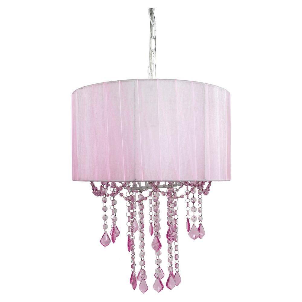 tadpoles 1 light pink chandelier shade chandeliers chandelier