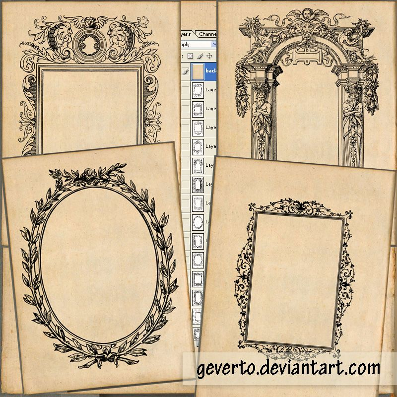 14 free printable old frames great for photo mats or art projects using vintage photos