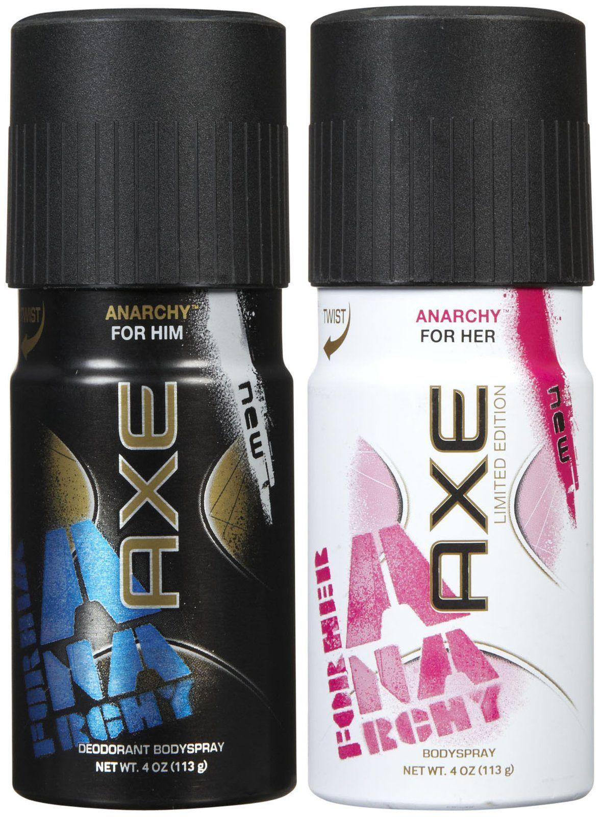 Axe Anarchy Deodorant Body Spray For Him For Her Bundle Body Spray Deodorant Axe Anarchy
