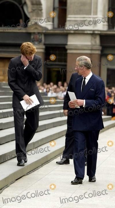 prince charles looks like he is giving out to poor harry