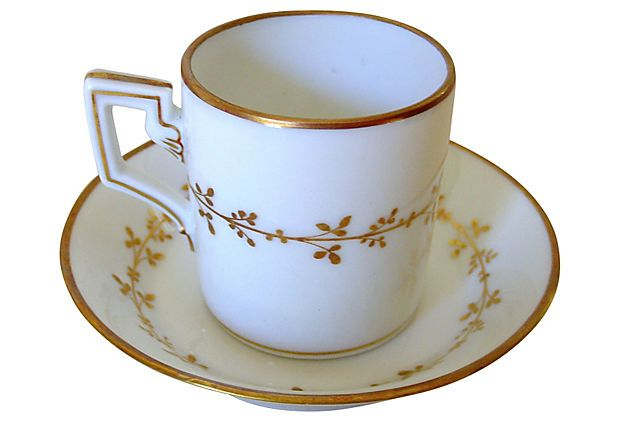 Ginori Golden Leaf Cup & Saucer