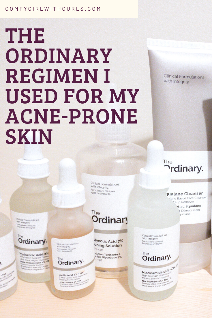 The Ordinary Skincare Regimen For Brown Acne Prone Skin Acne Prone Skin Care Acne Prone Skin Skin Care