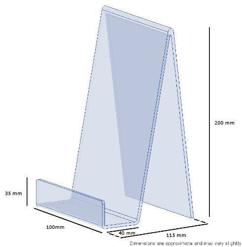 5 Large Clear Perspex Acrylic Plastic Book Plate Retail Display ...