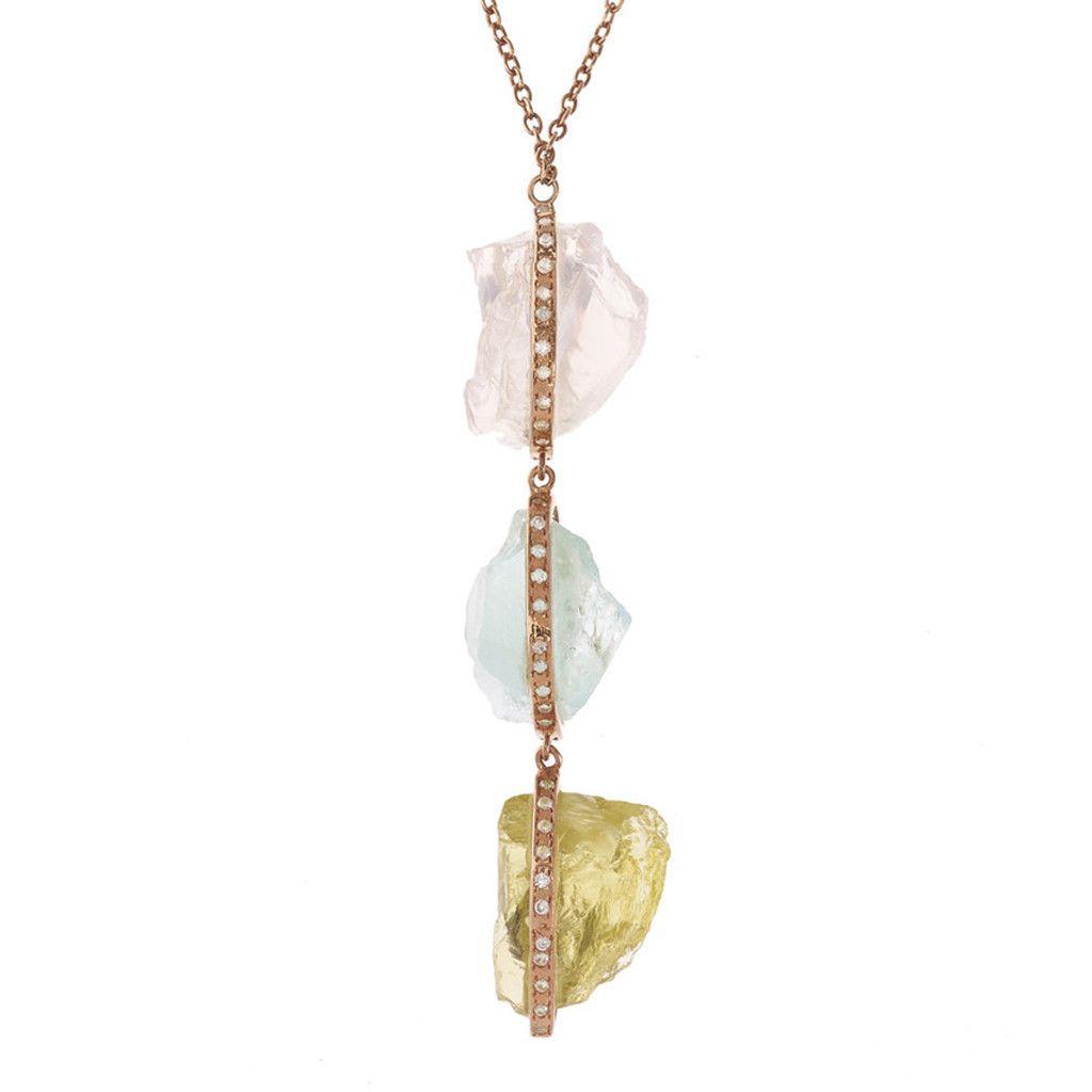 Multi nugget necklace didi jewellery takarabako pinterest