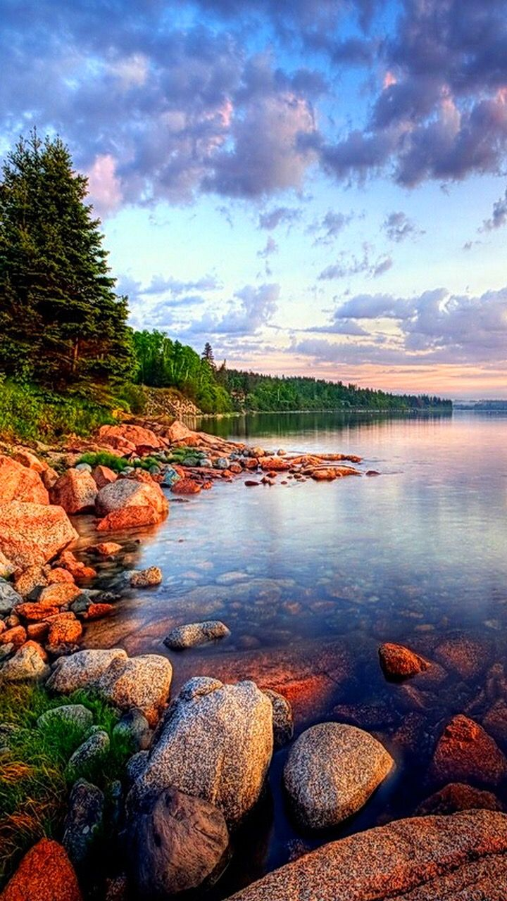 Landscape Water Green Relax Sky Stones Samsung Galaxy Wallpaper Best Nature Wallpapers Nature Wallpaper