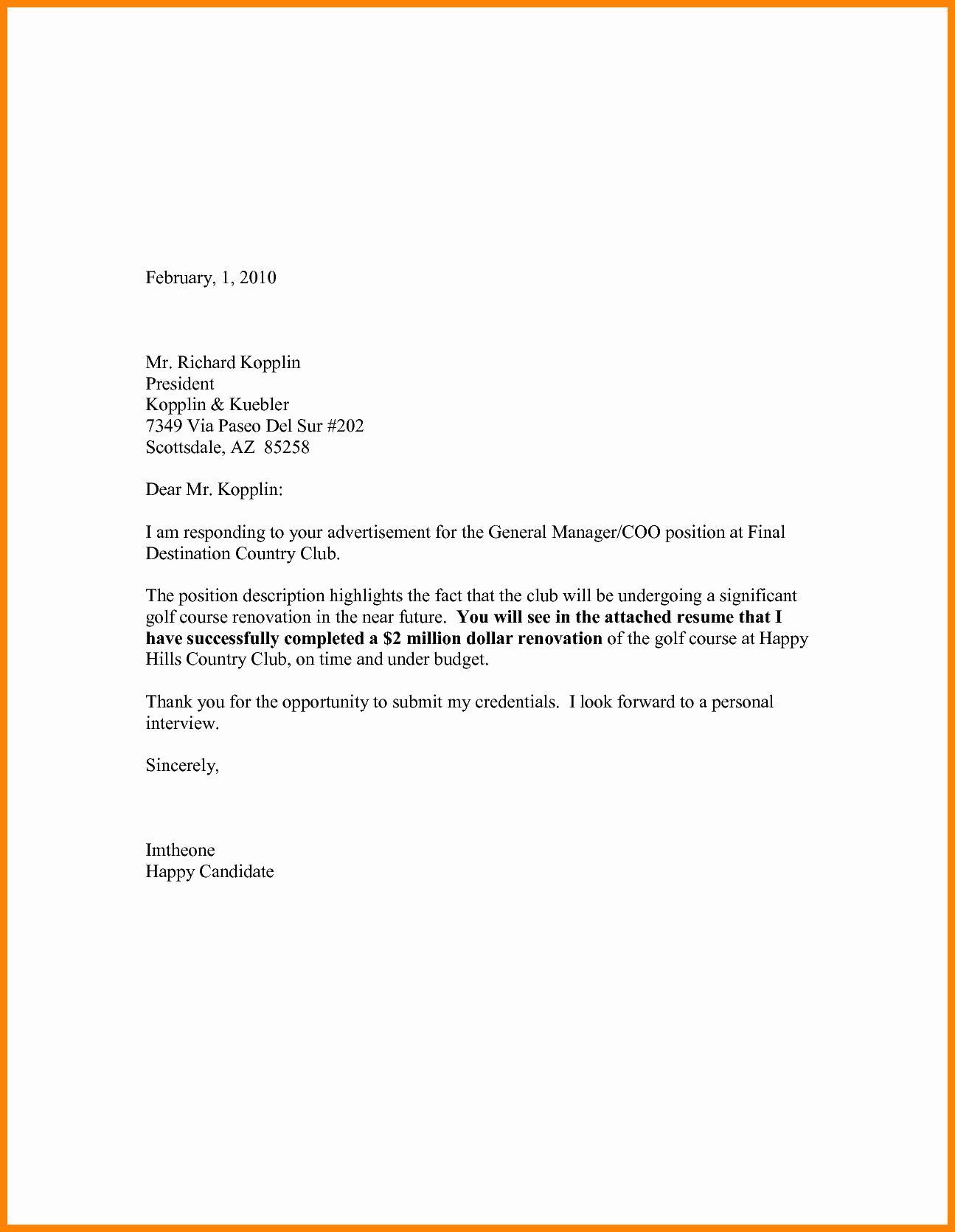 Cover Letter For Resume Template Beautiful 12 Cv Letter Sample Pdf Email Cover Letter Cover Letter For Resume Job Cover Letter What is a cv letter