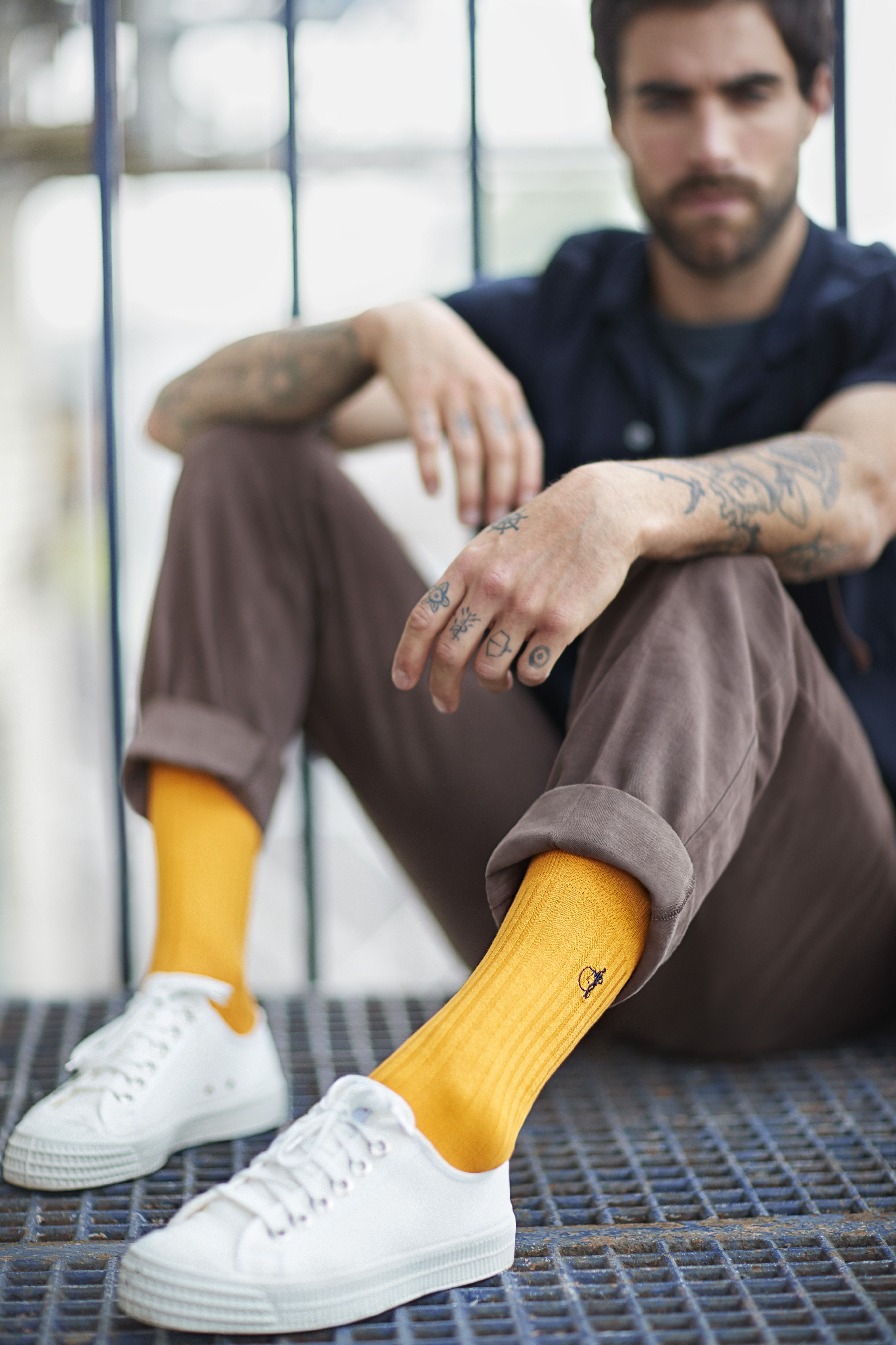 d731bb76bf050 East India Saffron Socks in 2019 | Neil content board | Yellow socks ...