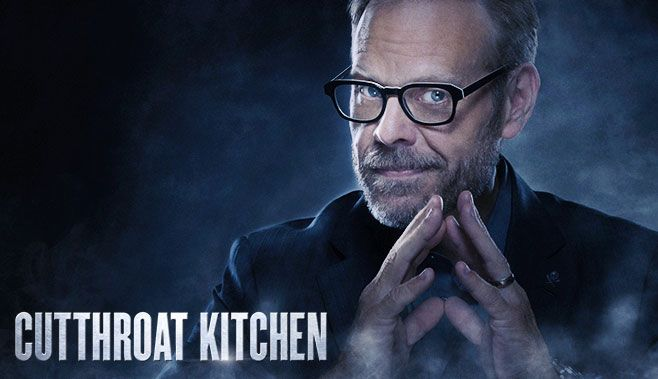 Cutthroat Kitchen Host Alton Brown Chef Tv Show Cutthroat