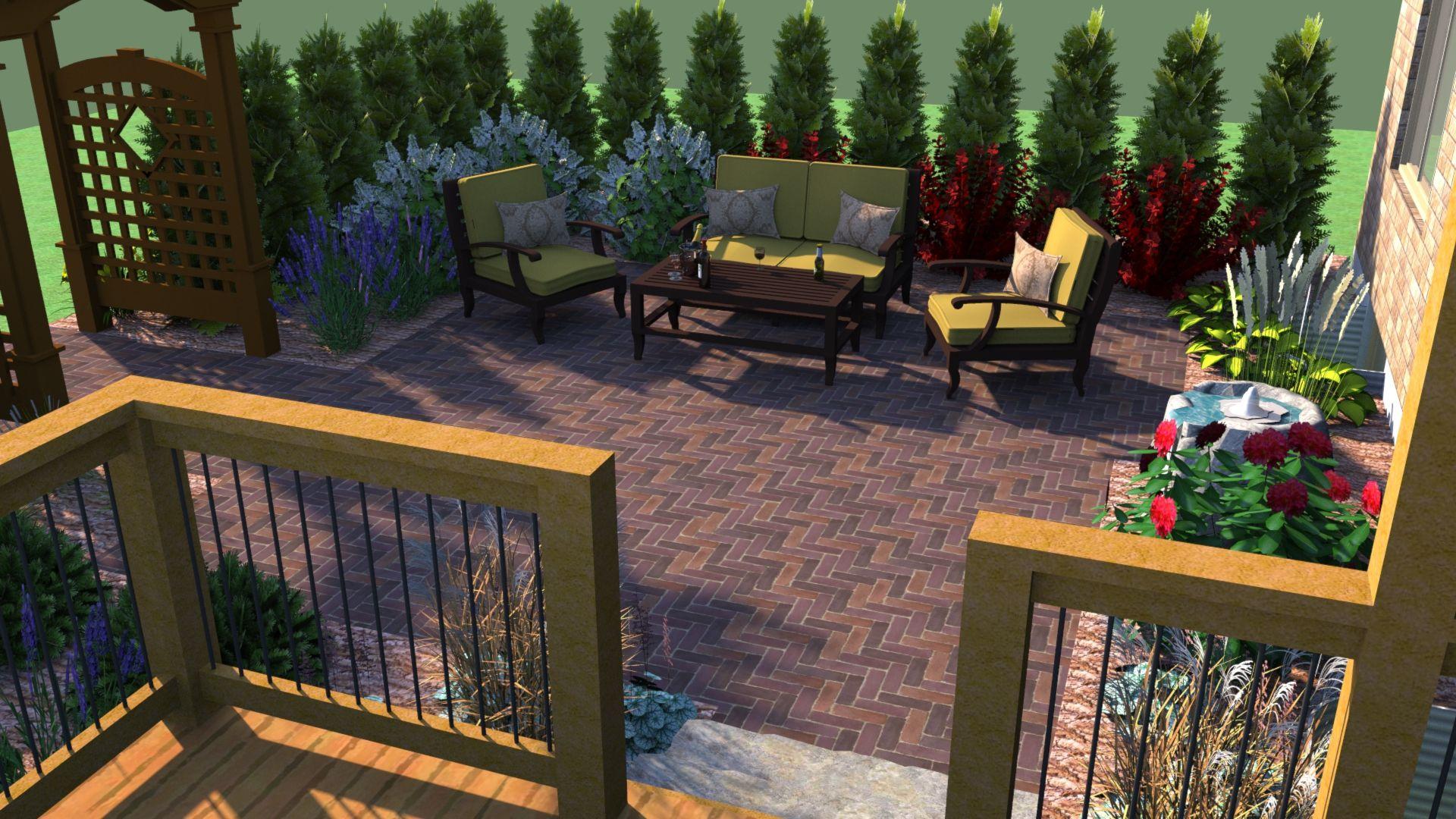 Patio Sketchup 3d Design Garden Design Software Free