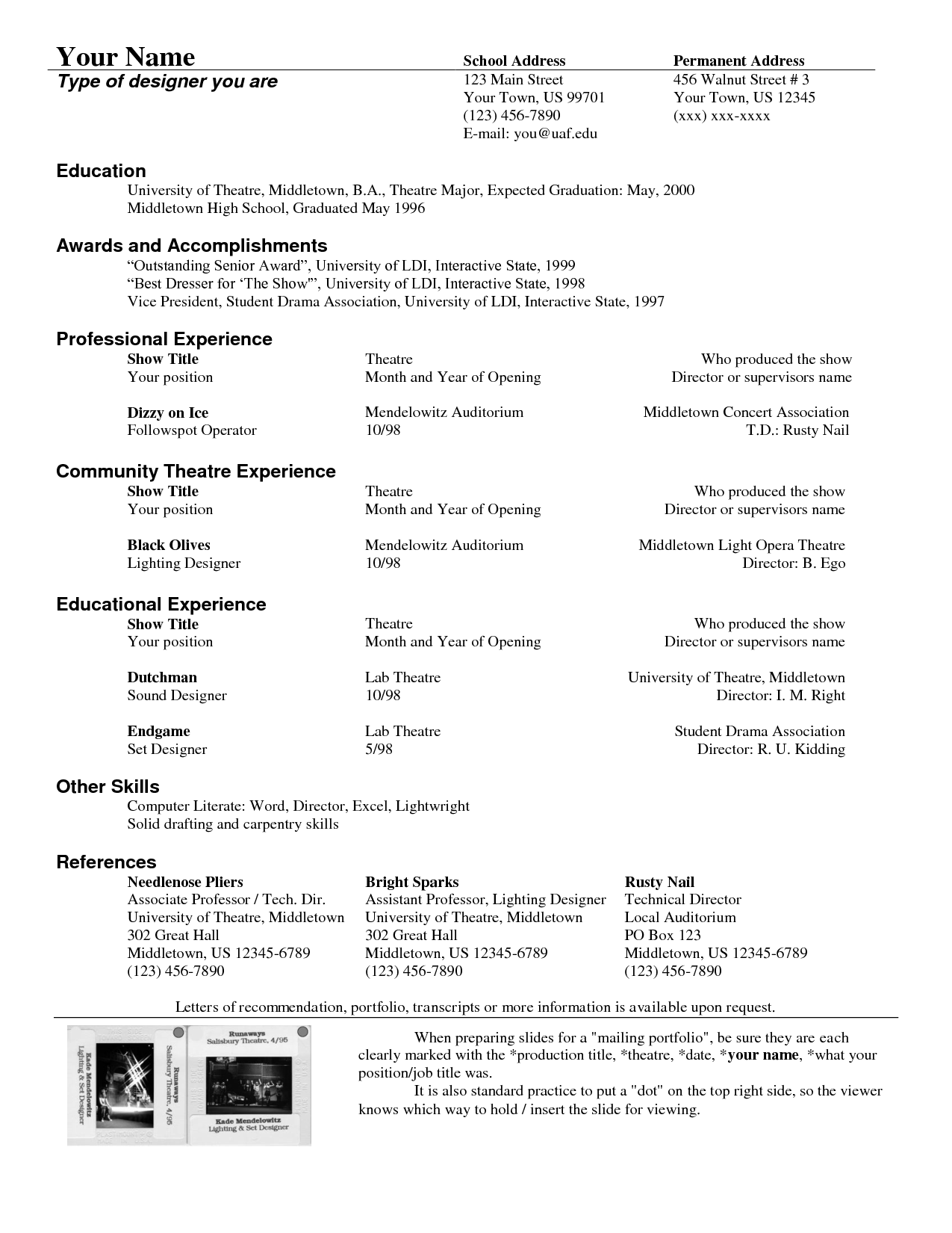 Pin by resumejob on Resume Job Acting resume template